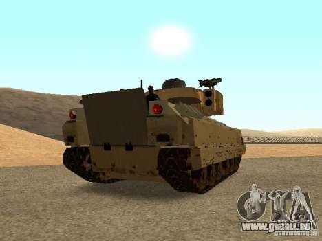 Bradley M2A3 pour GTA San Andreas sur la vue arrière gauche