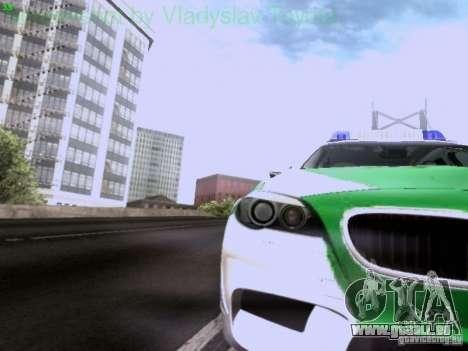 BMW M5 Touring Polizei für GTA San Andreas Innenansicht