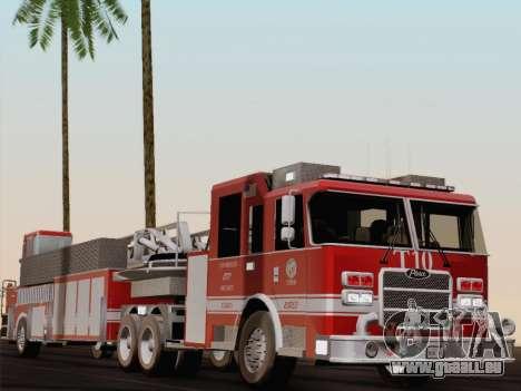 Pierce Arrow XT LAFD Tiller Ladder Truck 10 pour GTA San Andreas vue de dessous