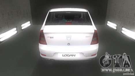 Dacia Logan pour une vue GTA Vice City de la droite