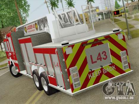 Pierce Arrow LAFD Ladder 43 für GTA San Andreas rechten Ansicht