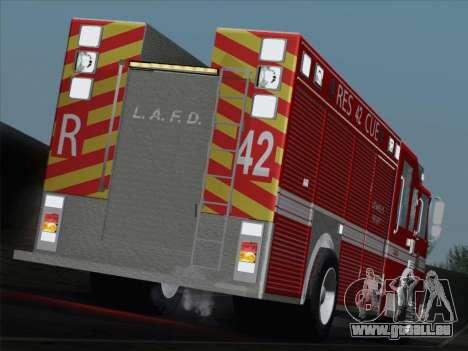 Pierce Contender LAFD Rescue 42 für GTA San Andreas Innen