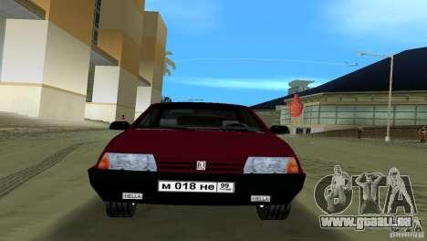 VAZ 21099 pour GTA Vice City sur la vue arrière gauche
