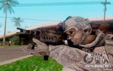 Tavor Ctar-21 de : warface pour GTA San Andreas troisième écran