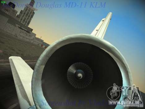 McDonnell Douglas MD-11 KLM Royal Dutch Airlines pour GTA San Andreas vue de dessous