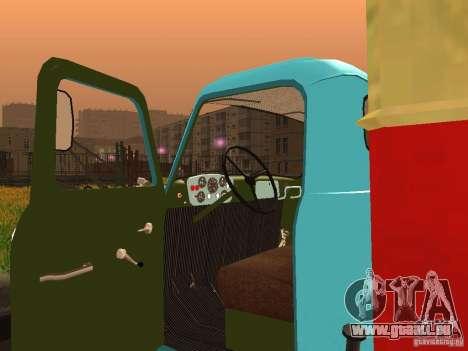 GAZ 53 für GTA San Andreas Rückansicht