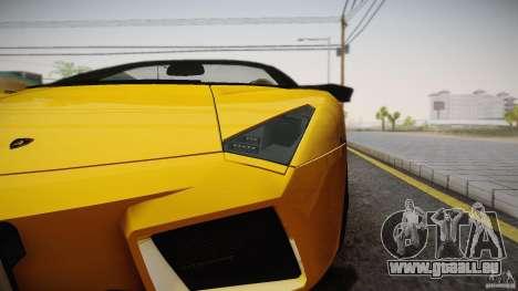 Lamborghini Reventón Roadster 2009 pour GTA San Andreas laissé vue