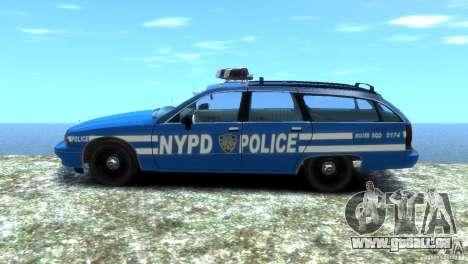 Chevrolet Caprice Police Station Wagon 1992 pour GTA 4 Vue arrière de la gauche