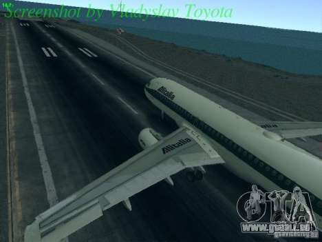Airbus A320-214 Alitalia v.1.0 pour GTA San Andreas laissé vue