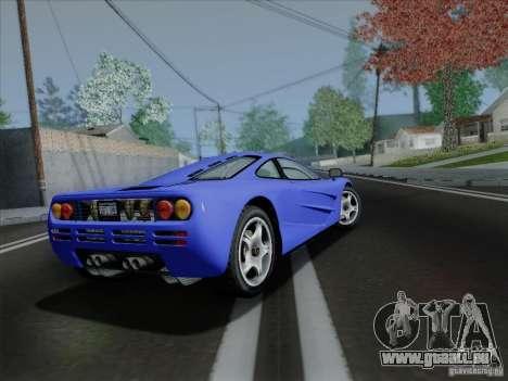 McLaren F1 1994 v1.0.0 pour GTA San Andreas vue arrière