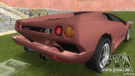 Lamborghini Diablo VTTT Black Revel pour une vue GTA Vice City de la gauche