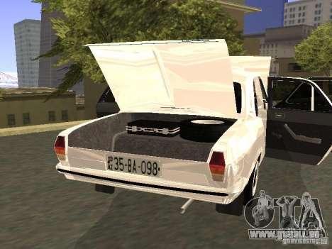 GAZ 24-10 pour GTA San Andreas vue intérieure