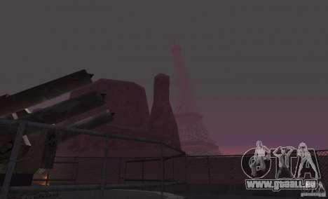 La tour Eiffel depuis Call of Duty : Modern Warf pour GTA San Andreas troisième écran