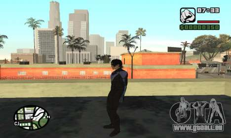 Nightwing skin für GTA San Andreas fünften Screenshot