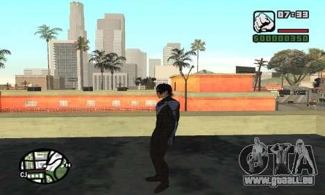 Nightwing skin pour GTA San Andreas cinquième écran