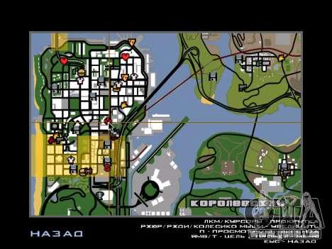 Tours jumelles BETA pour GTA San Andreas troisième écran