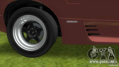 Lamborghini Diablo VTTT Black Revel pour GTA Vice City vue latérale