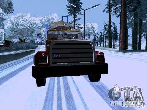 RTS 420 Šatalka pour GTA San Andreas vue arrière