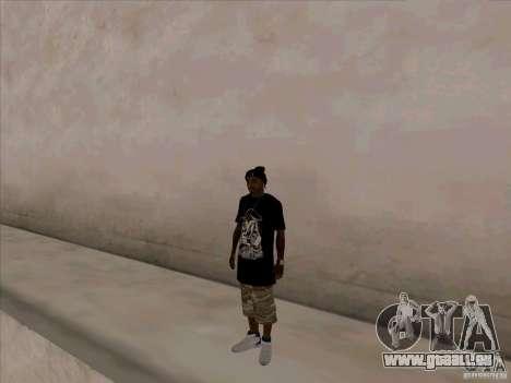Guy noir pour GTA San Andreas troisième écran