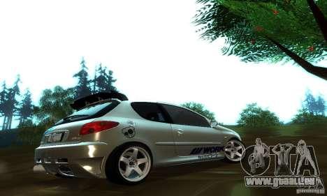 Peugeot 206 Tuning für GTA San Andreas rechten Ansicht