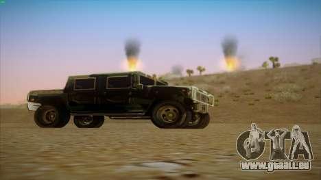 HD Patriot pour GTA San Andreas vue de droite