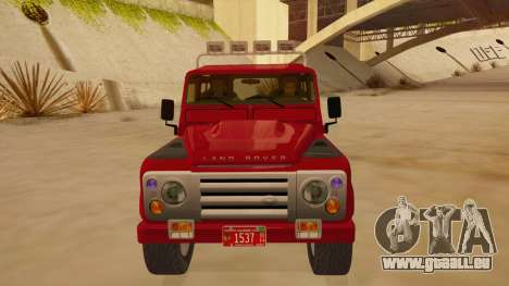 Land Rover Defender für GTA San Andreas Innenansicht