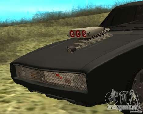 Dodge Charger R/T 1970 pour GTA San Andreas laissé vue