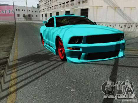 Ford Mustang GT Lowlife pour GTA San Andreas vue intérieure
