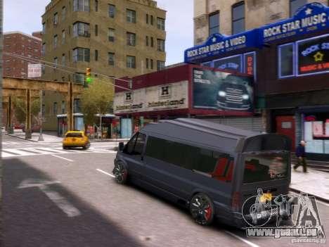 Ford Transit Sport Edition RV 2013 pour GTA 4 vue de dessus