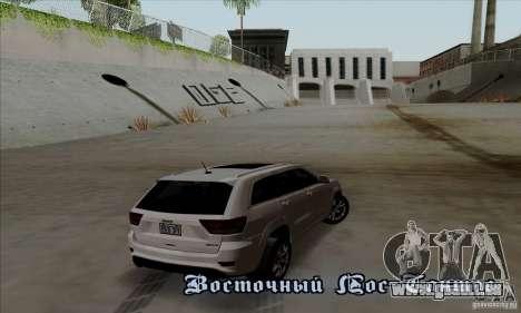 Jeep Grand Cherokee SRT-8 2013 pour GTA San Andreas vue de droite