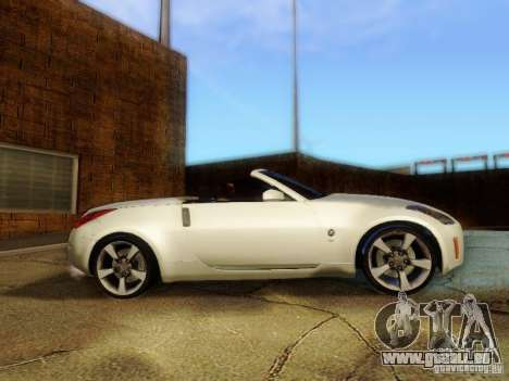 Nissan 350Z Cabrio pour GTA San Andreas sur la vue arrière gauche