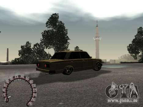 VAZ 2105 Gold für GTA San Andreas zurück linke Ansicht
