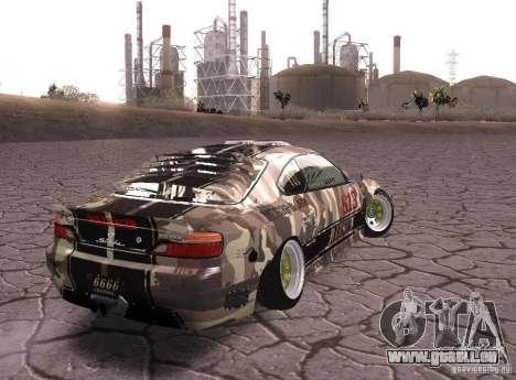 Nissan Silvia S15 Volklinger pour GTA San Andreas laissé vue