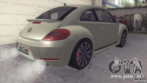 Volkswagen Beetle Turbo 2012 pour GTA San Andreas sur la vue arrière gauche