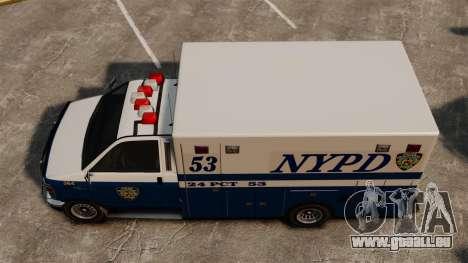 Neue van-Polizei für GTA 4 rechte Ansicht