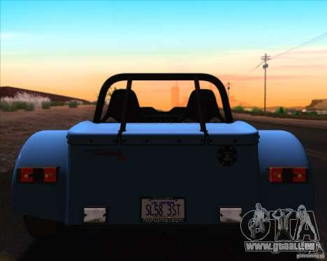 Caterham Superlight R500 pour GTA San Andreas salon