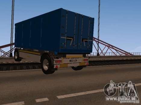 Trailer für MAN TGA 28430 PALIFT für GTA San Andreas zurück linke Ansicht
