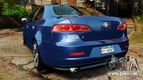 Alfa Romeo 159 TI V6 JTS pour GTA 4 Vue arrière de la gauche