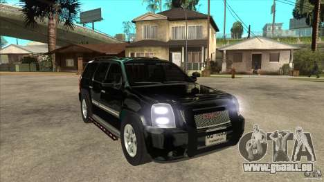 GMC Yukon Unmarked FBI für GTA San Andreas Rückansicht