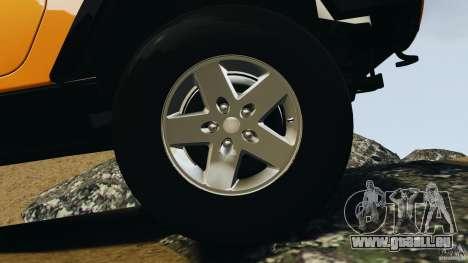 Jeep Wrangler Rubicon 2012 für GTA 4 obere Ansicht
