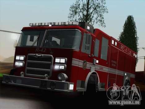 Pierce Contender LAFD Rescue 42 für GTA San Andreas Motor