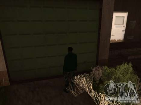 Utilisation d'entrepôt votre gang pour GTA San Andreas troisième écran
