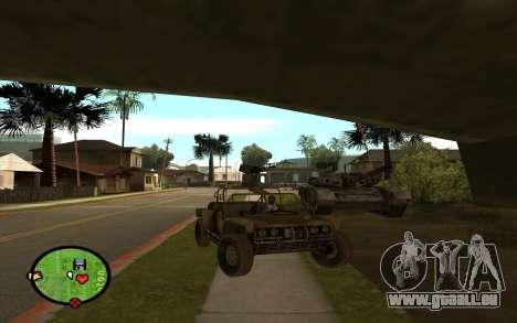 FAV-Buggy von Battlefield 2 für GTA San Andreas zurück linke Ansicht