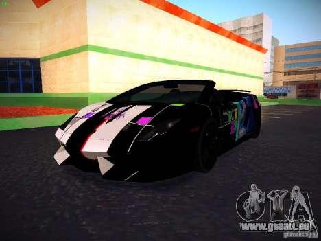 Lamborghini Gallardo LP570-4 Spyder Performante für GTA San Andreas Seitenansicht