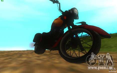 Motorcycle from Mercenaries 2 für GTA San Andreas rechten Ansicht