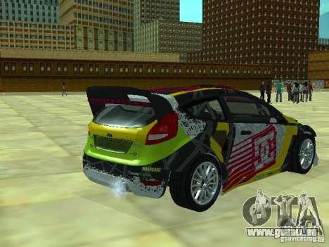 Ford Fiesta H.F.H.V. Ken Block Gymkhana 5 pour GTA San Andreas laissé vue