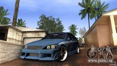 Lexus IS 300 Veilside für GTA San Andreas linke Ansicht