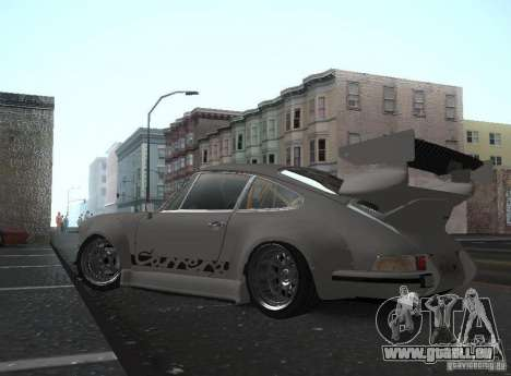 Porsche Carrera RS RWB pour GTA San Andreas laissé vue
