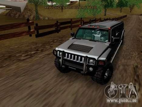 Hummer H3 Limousine pour GTA San Andreas vue intérieure