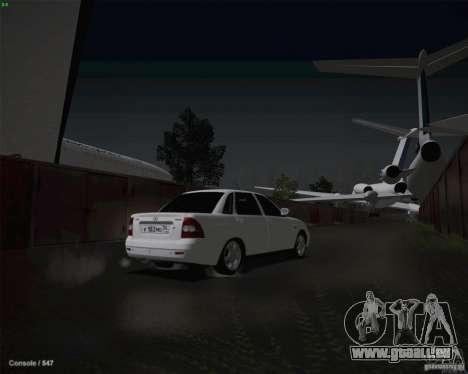 Lada 2170 pour GTA San Andreas vue de dessous